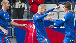 Inverness lead Hearts 2-0 thanks to two goals from Billy McKay