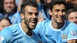 Alvaro Negredo Man City goal celebration