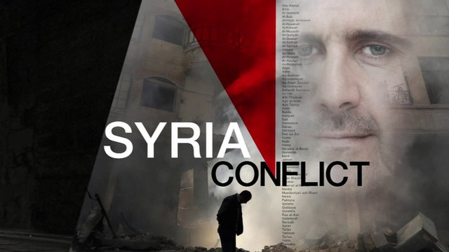 'Syria Conflict' graphic