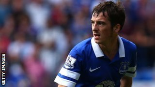 Everton left-back Leighton Baines