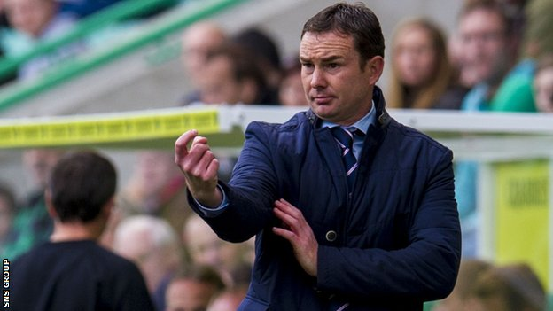 Derek Adams at Easter Road