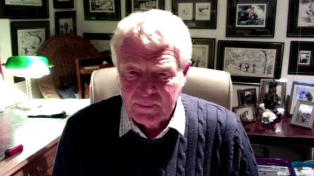 Paddy Ashdown speaks to BBC News via webcam