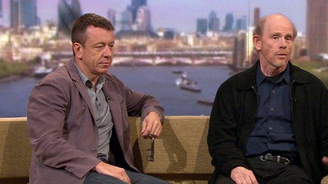 Peter Morgan and Ron Howard