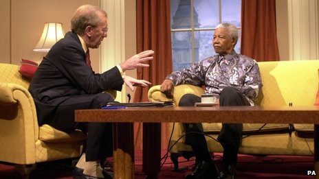 Sir David Frost with Nelson Mandela