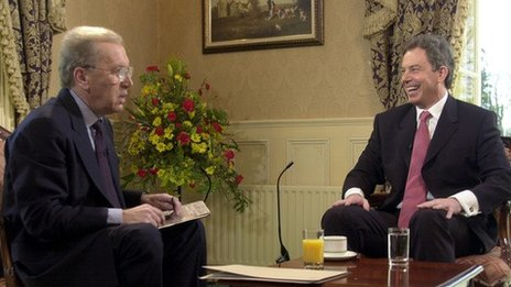 Sir David Frost and Tony Blair