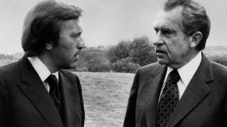 Sir David Frost and Richard Nixon
