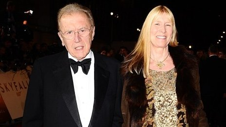 Sir David Frost and wife Carina