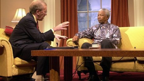 Sir David Frost and Nelson Mandela