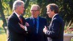 Sir David Frost with Bill Clinton and Tony Blair