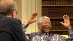 Sir David Frost interviews Nelson Mandela