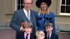 Sir David Frost with his family at Buckingham Palace