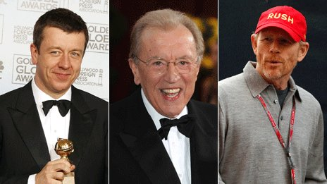 Peter Morgan, Sir David Frost and Ron Howard