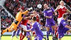 Chester goalkeeper John Danby clears in their 2-0 Conference Premier win at Wrexham