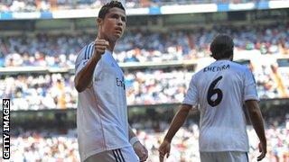 Cristiano Ronaldo and Sami Khedira