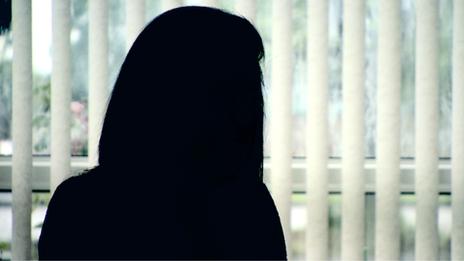 Victim in silhouette