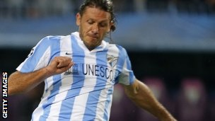 Martin Demichelis in action for Malaga