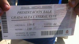 Gareth Bale ticket