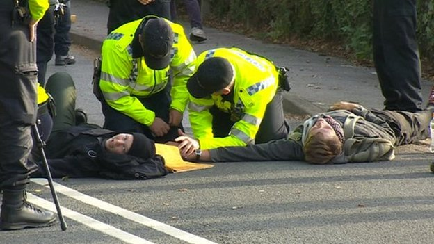 Protestors are arrested at AWE Burghfield