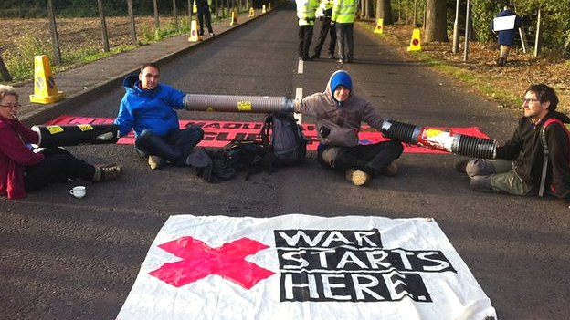 Protestors at AWE Burghfield
