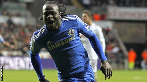 Chelsea forward Victor Moses