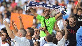 Real Madrid fans at the Bernabeu