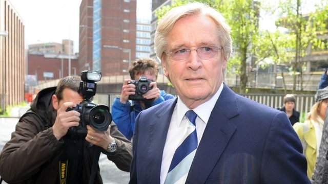 William Roache, who plays the character of Ken Barlow in the soap opera Coronation Street, arrives for a hearing at Preston Crown Court