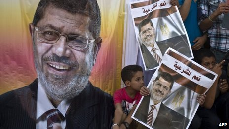 Supporters of Mohammed Morsi demand his reinstatement (11 August 2013)