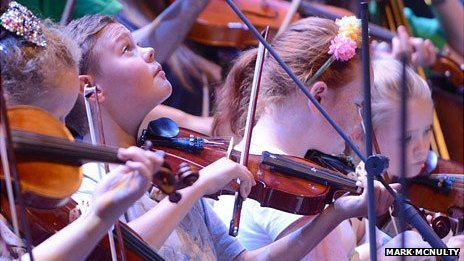 West Everton Children's Orchestra and the Liverpool Philharmonic at BBC Proms