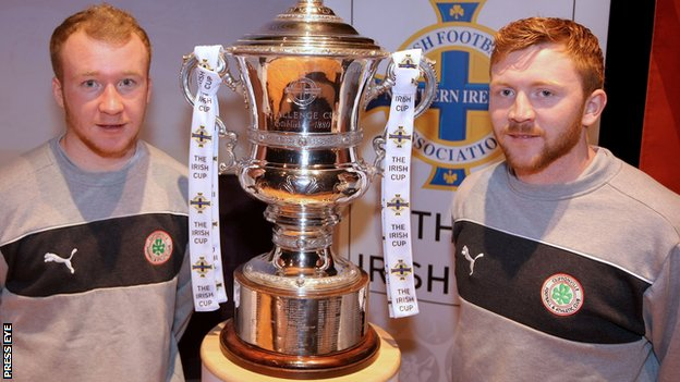 Liam Boyce and Conor Devlin of Cliftonville