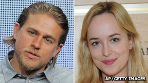 Charlie Hunnam and Dakota Johnson