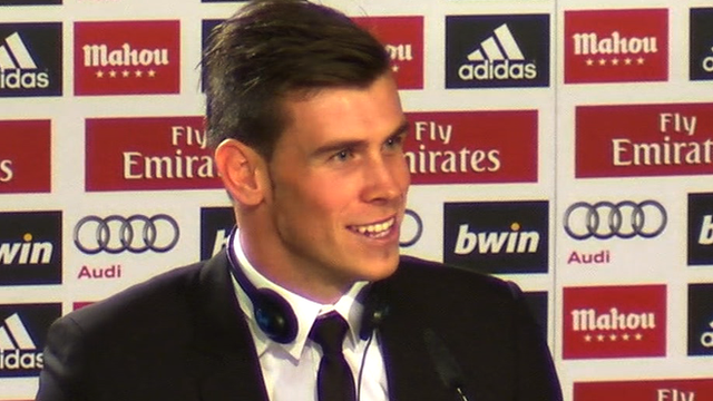 Real Madrid new signing Gareth Bale
