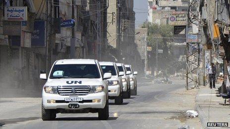 UN weapons inspector convoy