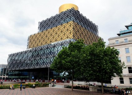 External shot of the Library of Birmingham