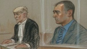 Michael Le Vell and defence lawyer Alisdair Williamson