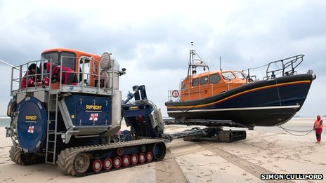Supacat and lifeboat