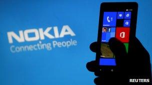 Nokia phone and logo