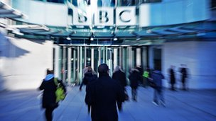 Generic BBC building and staff shot