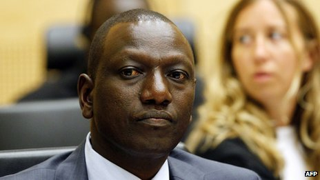 William Ruto at The Hague (1 September 2011)