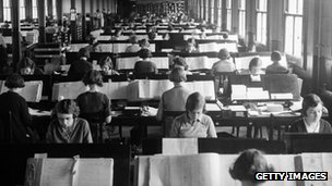 Women processing 1931 census forms