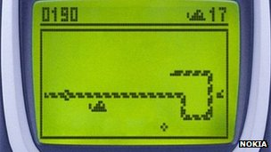 Snake game on Nokia phone