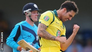 Mitchell Johnson dismisses Freddie Coleman