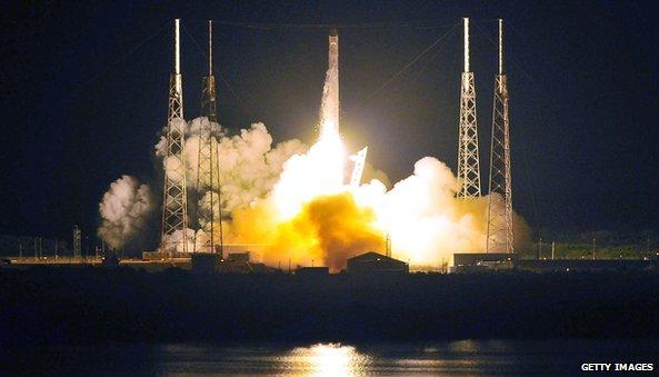 Space X Falcon 9 rocket