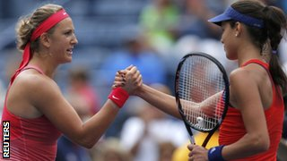 Victoria Azarenka (left) and Ana Ivanovic