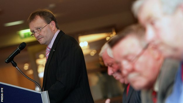 David Martin has returned to the post of Irish Football Association vice-president