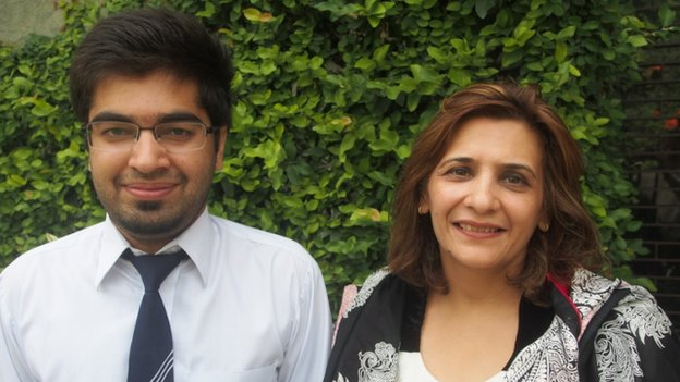 Haroon with head teacher Shahmina Kamal
