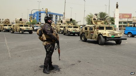 Iraqi security forces in Baghdad (31 August 2013)