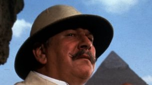 Peter Ustinov as Hercule Poirot in the film Death on the Nile