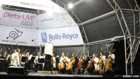 The concert attracts thousands of people to the park in Derby