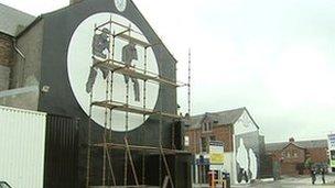 Murals east Belfast