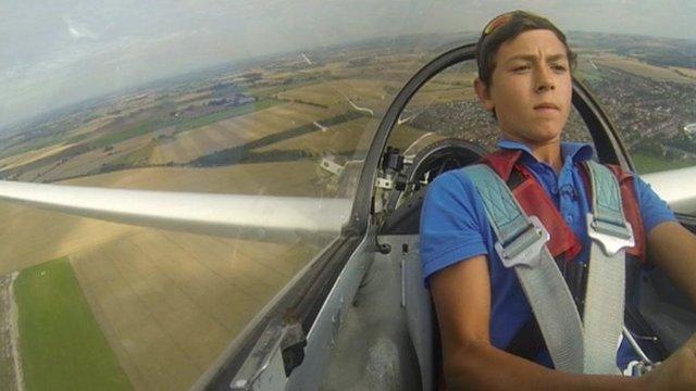 Will Blackburn flying in glider